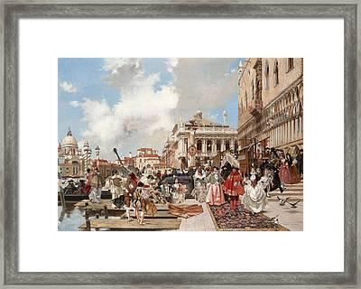 The Carnival. Venice Framed Print