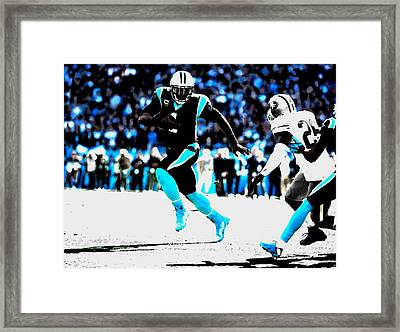 The Carolina Panthers 06a Framed Print by Brian Reaves
