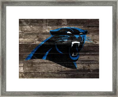 The Carolina Panthers W8 Framed Print by Brian Reaves