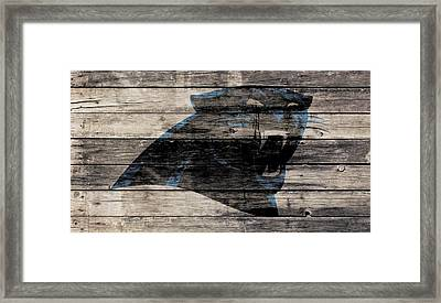 The Carolina Panthers Wood Art Framed Print by Brian Reaves