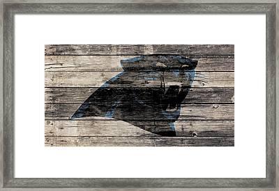 The Carolina Panthers Wood Art Framed Print