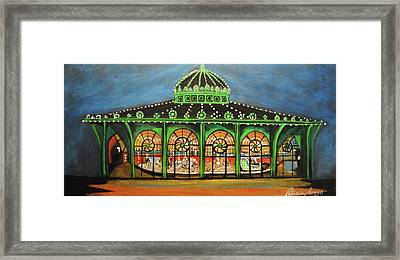 The Carousel Of Asbury Park Framed Print