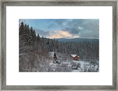 The Carpathian Chalet. Sheshory, 2010. Framed Print