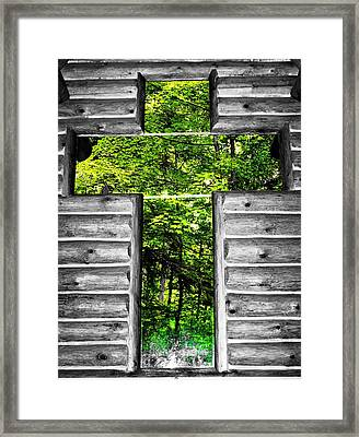 The Carpenters Cross Framed Print