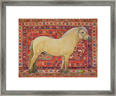 The Carpet Horse Framed Print by Ditz