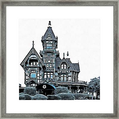The Carson Mansion Framed Print by Edward Fielding