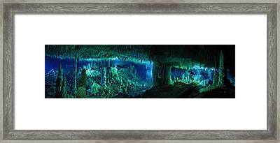 The Cascade Room Leads Divers Deeper Framed Print by Wes C. Skiles