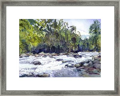 The Cascades Framed Print by Barry Jones