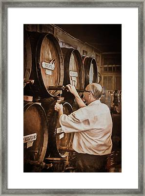 The Cask Manager Framed Print by Peter Hayward Photographer