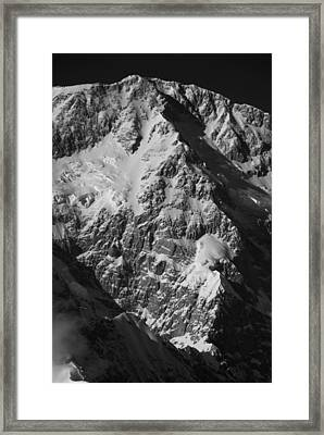 The Cassin Ridge On Denali Framed Print by Alasdair Turner
