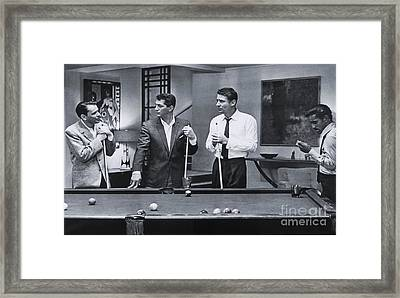 The Cast Of Ocean's 11 Framed Print by The Titanic Project