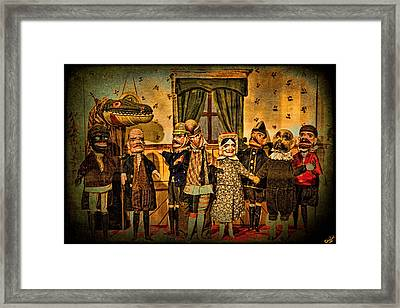 The Cast Takes A Bow Framed Print by Chris Lord