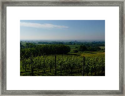 The Castle And Its Lands Framed Print by Cesare Bargiggia