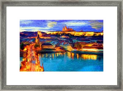 The Castle And The River Framed Print