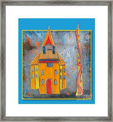 The Castle Dares Framed Print by Aqualia