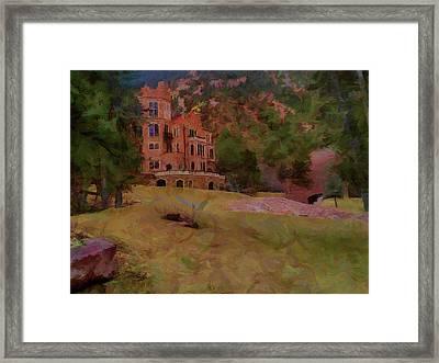 Framed Print featuring the digital art The Castle by Ernie Echols