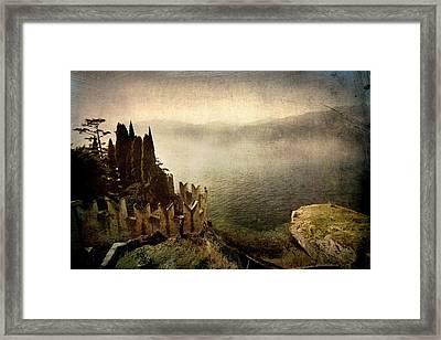 The Castle On The Lake. Malcesine Framed Print