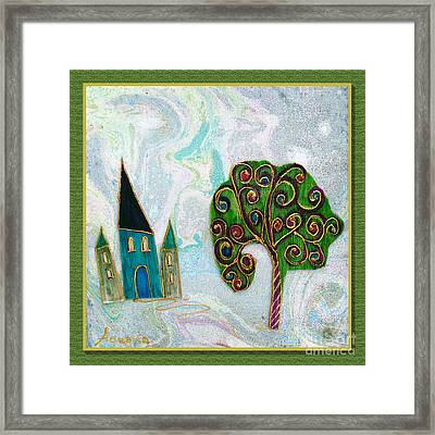 The Castle Plays Framed Print by Aqualia