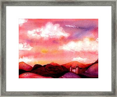 The Castle Framed Print by Rebecca Tacosa Gray