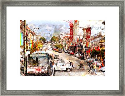 The Castro In San Francisco . 7d7573 Framed Print by Wingsdomain Art and Photography