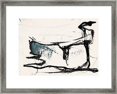 The Cat Framed Print by Airton Sobreira