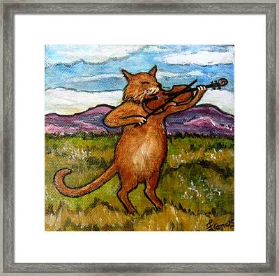 The Cat And The Fiddle Framed Print by Frances Gillotti
