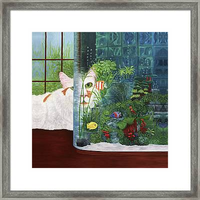 The Cat Aquatic Framed Print