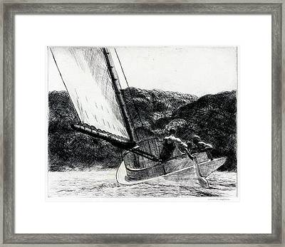 The Cat Boat Framed Print