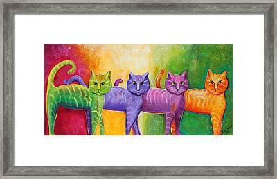 The Cat Walk Framed Print