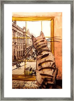 The Cat Who Saw Everything Framed Print