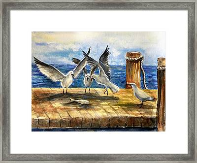 The Catch Is Mine Framed Print