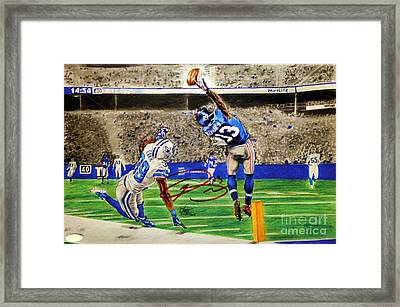 The Catch - Signed Reprint Framed Print by Chris Volpe