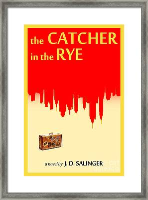 The Catcher In The Rye Book Cover Movie Poster Art 1 Framed Print by Nishanth Gopinathan
