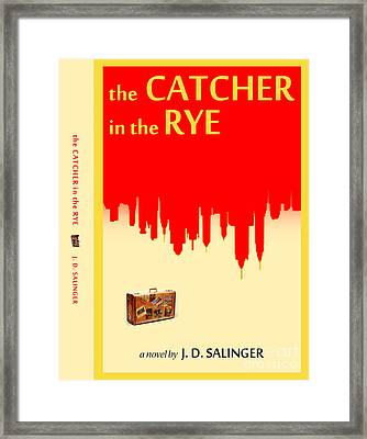 The Catcher In The Rye Book Cover Movie Poster Art 2 Framed Print by Nishanth Gopinathan