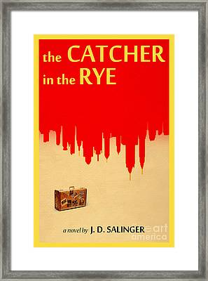 The Catcher In The Rye Book Cover Movie Poster Art 3 Framed Print by Nishanth Gopinathan