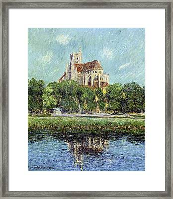 The Cathedral At Auxerre Framed Print by Gustave Loiseau