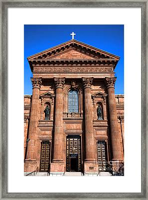 The Cathedral Basilica Of Saints Peter And Paul Framed Print by Olivier Le Queinec