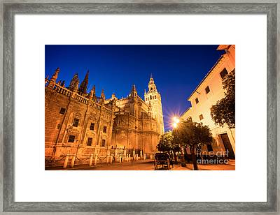 The Cathedral Of Seville Framed Print