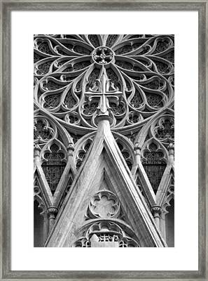The Cathedral Of St. Patrick Close Up Framed Print