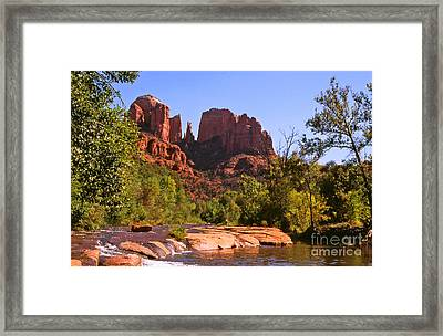 The Cathedral Rocks Framed Print by Alex Cassels