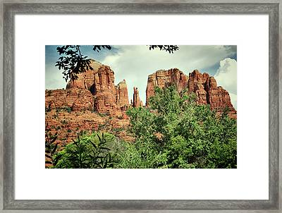 The Cathedral - Sedona Arizona - Red Rock Crossing - Color  Framed Print by Gregory Ballos