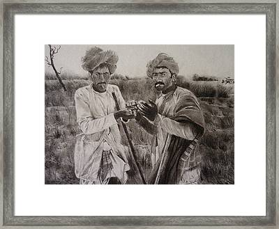 The Cattle Rearers Framed Print
