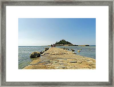 The Causeway To St Michael's Mount Framed Print by Rod Johnson