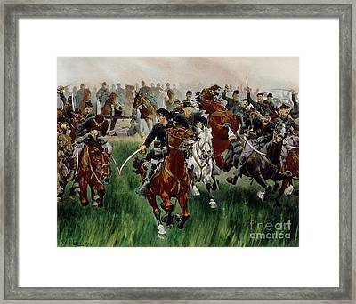The Cavalry Framed Print by WT Trego