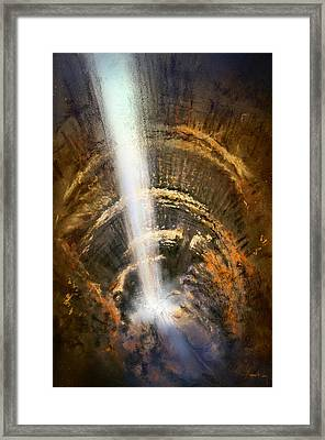 Framed Print featuring the painting The Cavern by Andrew King