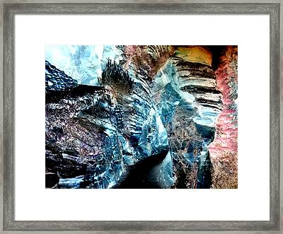 The Caves Of Q'th Framed Print