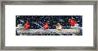 The Cedar Rail Gang Framed Print by Richard De Wolfe