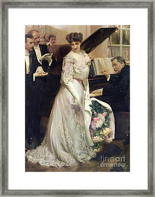 The Celebrated Framed Print by Joseph Marius Avy