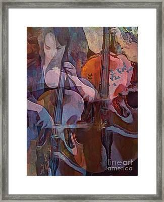 Framed Print featuring the digital art The Cellist by Alexis Rotella