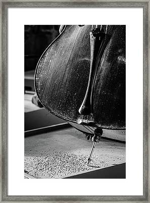 Cello Endpin Framed Print